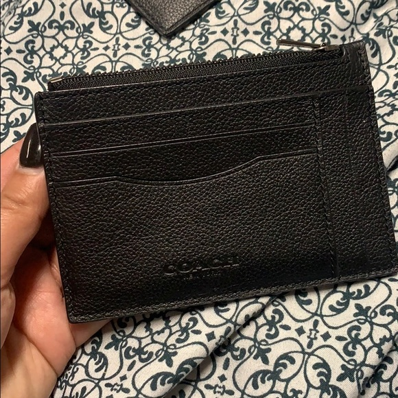 Authentic Coach 9 card slot card holder